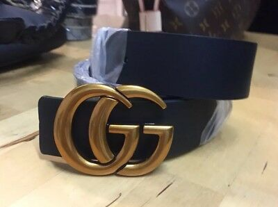 GG Marmont Belt Gold And Black 100% leather Various Sizes