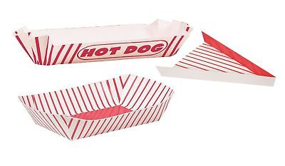 Snack boxes hot dog pizza slice boxes containers fun food retro stripes