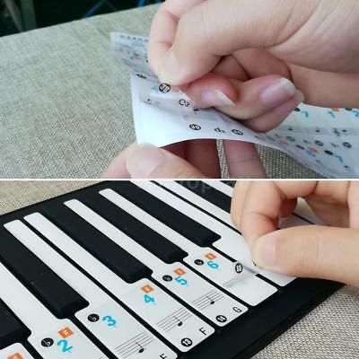 Music Keyboard Piano Stickers 37 49 61 88 Key Set Removable Transparent stickers