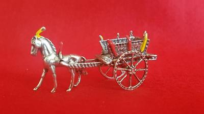 Fabulous Vintage Silver Cabinet Collectible – Italian Horse Drawn Wedding Cart