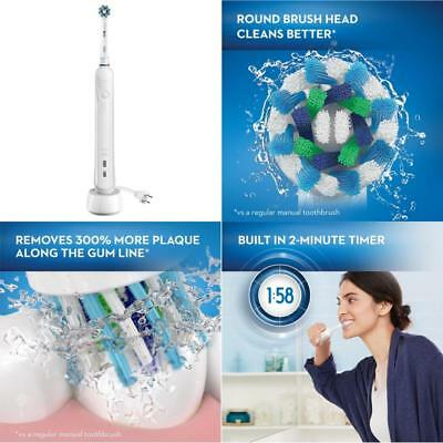 Electric Toothbrush Rechargeable Oral B White Pro 1000 Power New