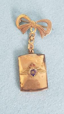 1940s WWII 9ct Gold Silver Lined Royal Aust Airforce Sweetheart Locket