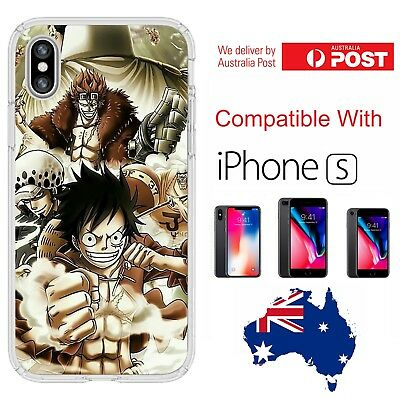 iPhone Silicone One Piece Monkey D Luffy Trafalgar Law Eustass Kid - Coverlads