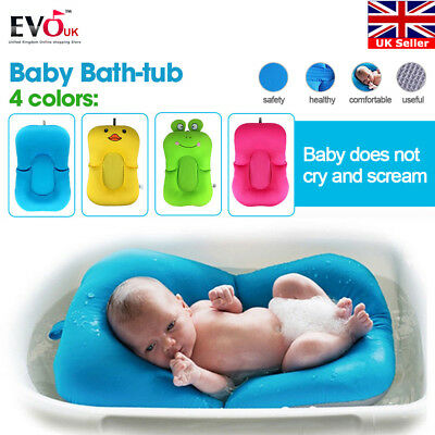 Bath Baby Pad Seat Newborn Toddler Soft Safety Security Support Mat Easy Bathing