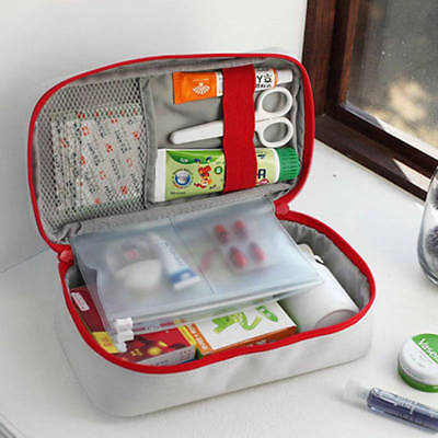 Travel First Aid Kit Bag Emergency Medical Survival Rescue Box 2 Colors
