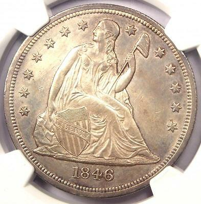1846-O Seated Liberty Silver Dollar $1 - NGC Uncirculated Detail (UNC MS). Rare!
