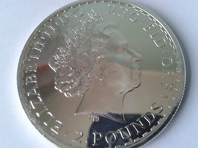 Silver Britannia Coin 2012 In Very Near Mint Condition