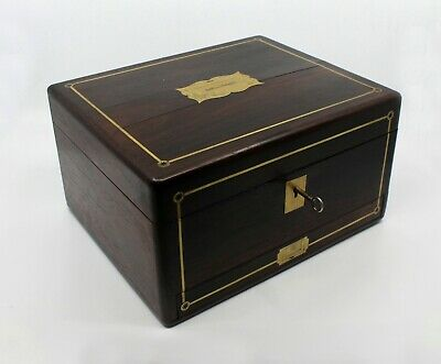 Early 19th c. Brass Inlaid Rosewood Writing Box by William Wilson Edinburgh