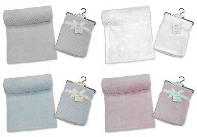 New Branded Snuggle Baby Super Soft Luxurious Waffle Fleece Baby Wrap Blanket