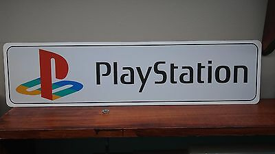 "Playstation Logo Aluminum Sign  6"" x 24"""