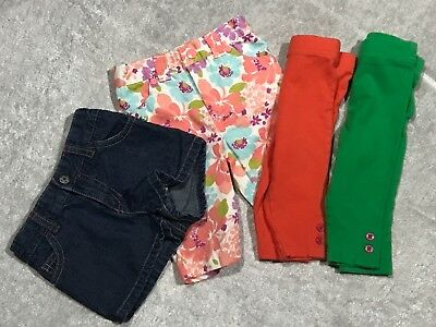 Baby Girl Leggings LOT OF 5 Size 12 Months Spring Pants Shorts Capris