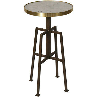 Uttermost 25986 Gisele 26 X 14 inch Brass and Textured Aged Bronze Accent Table