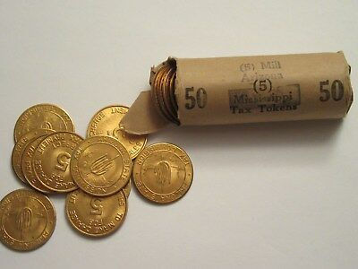 Roll of 50 (5)s Arizona State Tax Tokens, used during the 30's & 40's