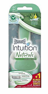 Wilkinson Intuition Naturals Sensitive Care Rasierer mit 2 Klingen