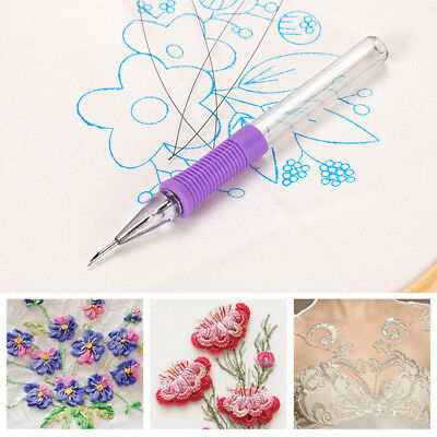 Punch Needle Embroidery Tool Convenient Durable Cross Stitch Textiles Yarn
