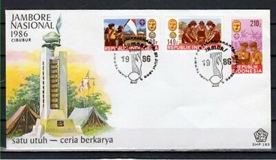 Indonesia, Scott cat. 1297-1299. National Scout Jamboree issue. First day cover.