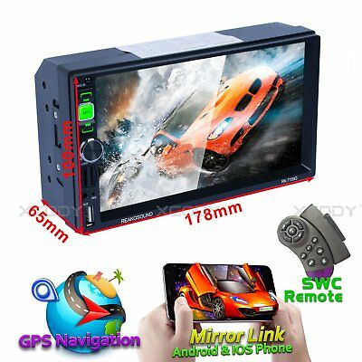 """7"""" Bluetooth Car Stereo Radio MP5 Player 2 DIN HD Touch Screen SD Navigation"""