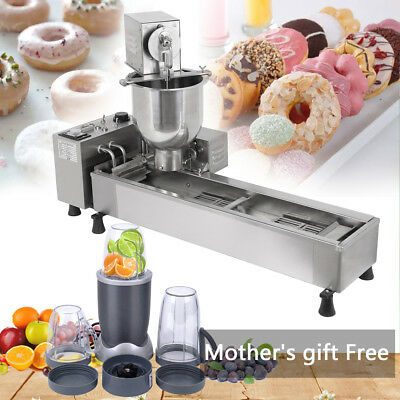 Commercial Automatic Donut  Machine Maker DoughnutWide Oil Tank 3 Sets Free Mold