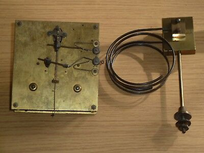 Vintage Junghans ting tang clock movement & gongs for spares