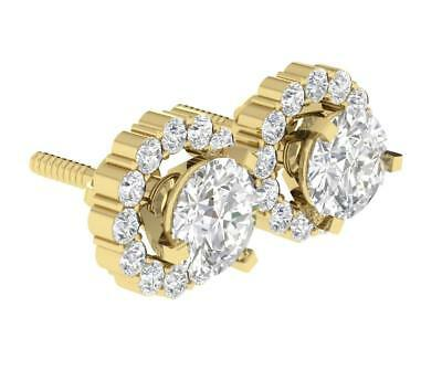 Removable Jacket Stud Earrings I1 H 1.60Ct Genuine Diamond 14K Solid Gold 8.35MM