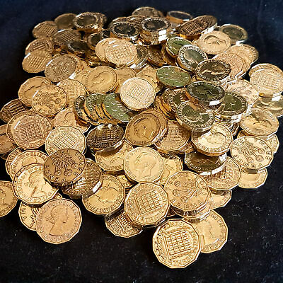 Bulk Lot Clean Brass Three Pence 3d Coins Threepence Mixed Years Choose Quantity
