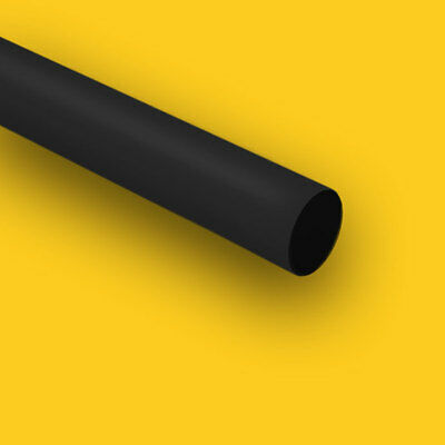 "HDPE (High Density Polyethylene) Plastic Rod 2 3/8"" Dia x 24"" Length Bar Black"
