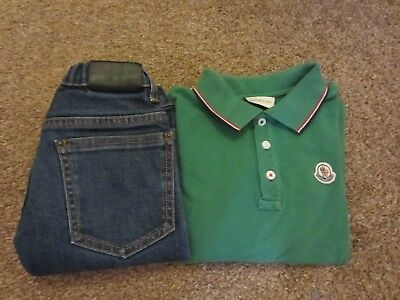 boys moncler polo shirt  and fendi jeans age 5  outfit/sets