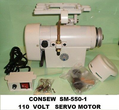 Consew Sm-550-1 New  3/4 Hp 110 Volt Servo Motor For Industrial Sewing Machine