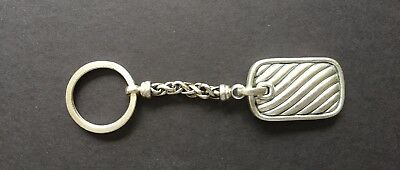 David Yurman Cable Classics Sterling Silver Keychain Vintage