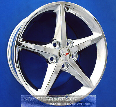 Corvette C6 18 & 19 Inch Chrome Wheels Rims '05-2013 Oe Staggered 18X8.5 19X10