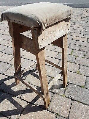 Nice old stool home made in need of lots of tlc