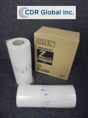 New RISO Master Rolls Z-Type 30 A4-L 2-Pack S-4250 (K491466)