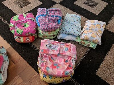 Cloth Diapers Lot - AIO with extra cloth liners (39 pieces)