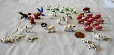 Vintage Miniature Animals Farm & Others Rail Road 45 Piece Lot