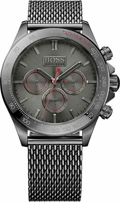 MEN S HUGO BOSS Ikon Grey Steel Chronograph Watch 1513443 -  343.08 ... 36c69f77e6