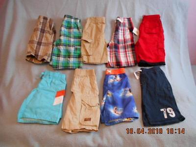 9 Pc Mixed Lot Variety of Pre-owned Shorts & Swimsuits Boys Size 5-5T