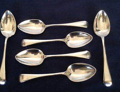 6 Vintage Silver Plated Old English Pattern Tea, Coffee or Egg Spoons Viners