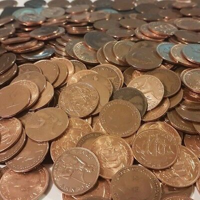 Bulk Job Lot Clean Old Brass Halfpenny Coins : Mixed Years : Choose Quantity
