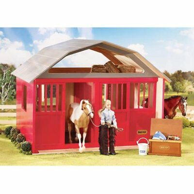 Breyer Traditional Two-Stall Horse Barn Toy Model