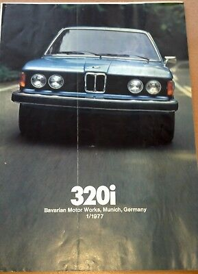 1977 '77 BMW 320i Original-Auto Brochure-Booklet-Dealer Catalog OEM