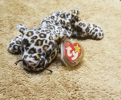 RARE Ty Beanie Babies Freckles The Leopard Plush Stuffed Animal Toy 1996 Retired