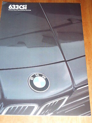 1983 BMW 633CSI Auto Brochure-Original Booklet-Bavarian Motor Works - NEAR MINT