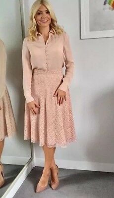 ZARA Pink Nude Lace Guipure Skirt - Holly Willoughby - BRAND NEW WITH TAGS!