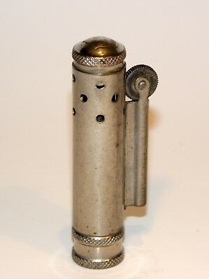 1930's art deco trench art bora windproof petrol lighter with spare fuel tank