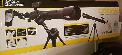 National Geographic CF700 SM Telescope used