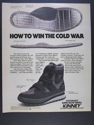 1986 Kinney Colorado Super Snow Hikers hiking boots color photo vintage print Ad