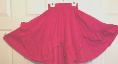 "Square Dance Country Western Skirt ""malco Modes"" Dark Rose M"