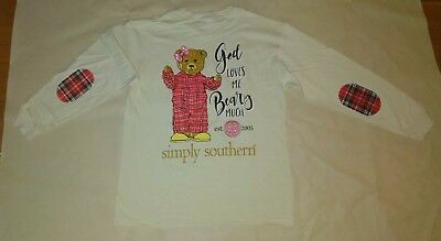 """xNWT Simply Southern """"God Loves Me Beary Much"""" Youth Sz. Small T-Shirt"""