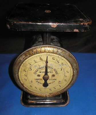 Antique Columbia Family Scale 6 Pound - Working - Farm Kitchen Rustic