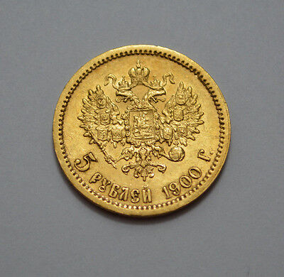 Superb 1900 Ф.з. Russia 5 Rouble Gold Coin Imperial Russian Nicholas Ii 5 Ruble!